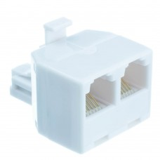 Adaptor Central RJ11 (Male) Σε Δύο RJ11 (Female)